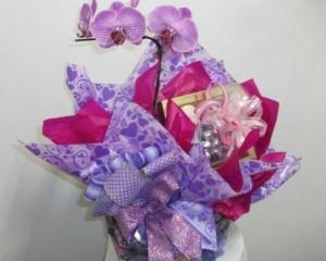 004 -Cachepôde Orquídea com chocolate